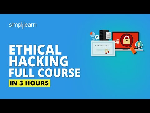 Ethical Hacking Full Course In 3 Hours🔥| Learn Ethical Hacking| Ethical Hacking Tutorial|Simplilearn