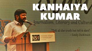 Kanhaiya Kumar speaks at NSoJ - National School of Journalism, Bangalore.