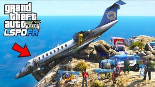 Airplane Crash!! Can We Save The Pilot?? (GTA 5 Mods - LSPDFR Gameplay)