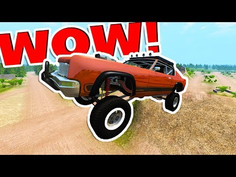 BeamNG Drive - BEST OFF-ROAD JUMP MAP EVER