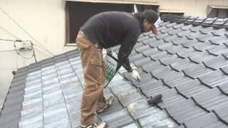 山口県周南市屋根塗装マルチシリコン極下塗り作業