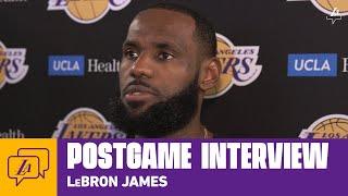 Lakers Postgame: LeBron James (7/30/20)