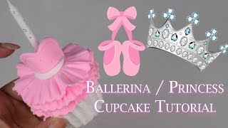 How To Make A Princess Or Ballerina Cupcake | Candle | Fondant | Cold Porcelain