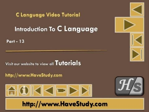 Introduction to C Language | Part 13