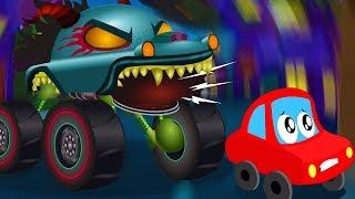 Monster Truck Hunting Little Red Car | Videos For Children | Hungry Monster Truck