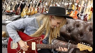 Sarah Rogo Playing A 1960 Fender Jazzmaster Custom Color Candy Apple Red