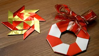 Origami - Décoration de Noël : L'étoile magique