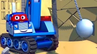 Carl the Super Truck and the Demolition Crane in Car City   Cars & Trucks Cartoons for kids