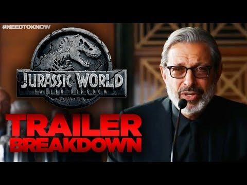 Jurassic World Fallen Kingdom TRAILER Breakdown - WHAT YOU MISSED! #NeedtoKnow
