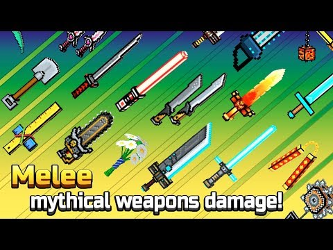 Pixel Gun 3D - Melee Mythical Weapons Hits Damage