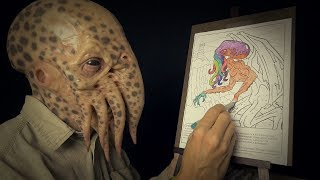 Coloring with Cthulhu | ASMR