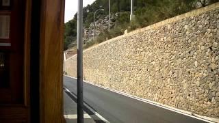preview picture of video 'Mallorca 2011 Straßenbahn Soller - Port Soller auf neuer Promenade'