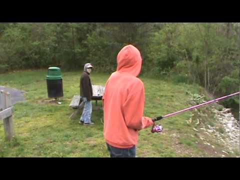 Fairfield Pond fishing April 2011