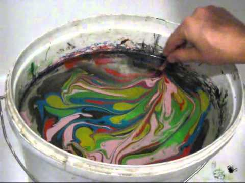 Swirling using the Easy Marble paints