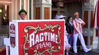 Ragtime Piano Player Robert Mary Poppins Medley Refreshment Corner Disneyland 2013