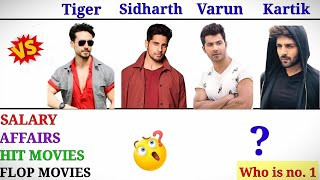 Tiger Shroff Vs Sidharth Malhotra Vs Varun Dhawan Vs Kartik Aaryan Comparison🔥||