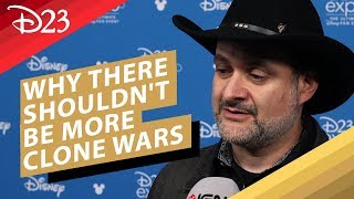 Dave Filoni on Why There Shouldn't Be More Clone Wars - D23 2019