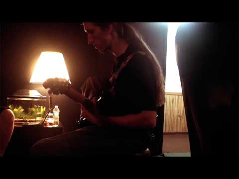 Darren Moon of Untold Legacy tracking guitars at T.V.R. Recording Studios in Rockford, IL.