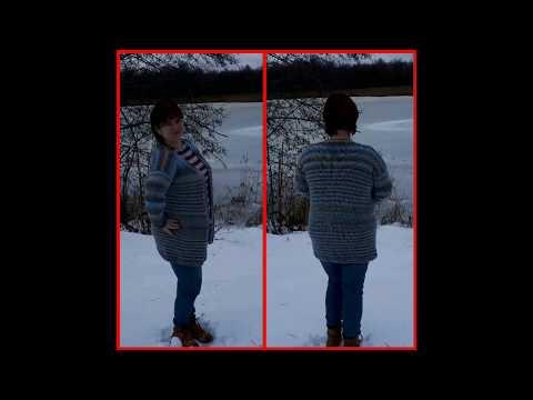 """Обзор кардигана """"Эверест""""/ модель спицами/ размер 48 - 52-54#кардиган#кардиганспицами"""