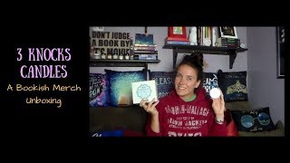 3 Knocks Candles | A Bookish Merch Unboxing