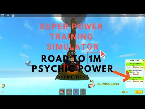 how to afk farm psychic on Super Power Training Simulator Better way