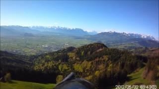 preview picture of video 'Modellflug Luftvideo auf St. Anton, Oberegg, Switzerland'