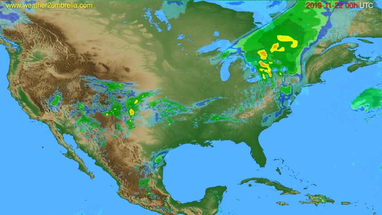 Radar forecast USA & Canada // modelrun: 12h UTC 2019-11-21