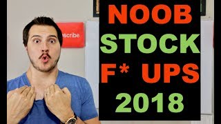 Top 5 Mistakes Beginners in the Stock Market Make in 2018