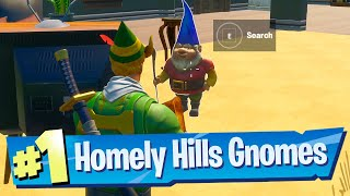 Find Gnomes at Homely Hills Location - Fortnite Battle Royale