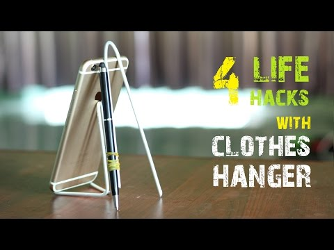 4 Amazing Life Hacks things using a Clothes Hanger