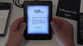 Amazon Kindle Paperwhite 300ppi 2015 einrichten und erster Eindruck