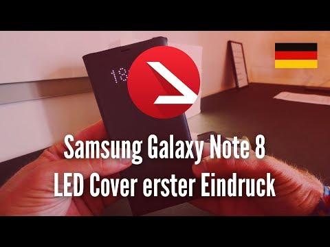 Praktische Hülle | Samsung Galaxy Note 8 LED Cover erster Eindruck