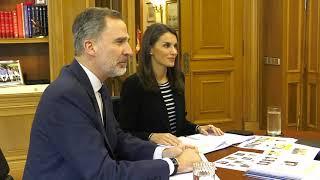 Sus Majestades los Reyes presiden el Pleno virtual de la Real Academia Española (RAE)
