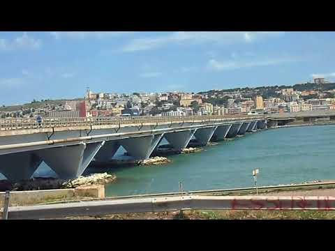 Lo stagno di Cagliari ( ponte della scafa ) atterraggio aereo Alitalia