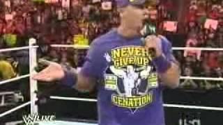 John Cena Freestyle Rap on The Rock.flv