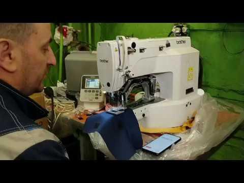 Пришивание липучки. Швейный автомат Brother 430 vs прямострочка Brother S7250. video