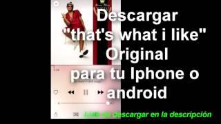 Descargar canción That's what I like Bruno Mars Original/Download That's what I like original