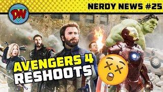 Gambar cover Howard Stark in Avengers 4, Captain Marvel First Look, Reshoots,  Batman | Nerdy News #25