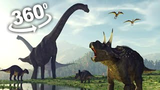 360 VIDEO VR Dinosaur Jurassic VR Experience Virtual Reality 4K