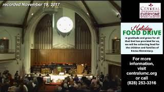 November 22, 2020 8:45 a.m. Worship - Central UMC - Asheville, NC