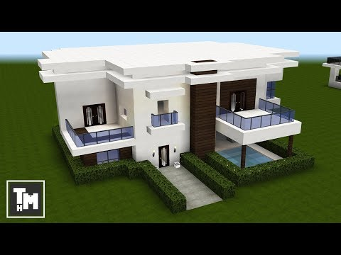 how to build a large modern mansion house villa minecraft project