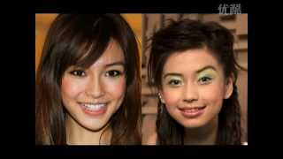 Angelababy plastic surgery Multi-angle full version Before & After comparison 杨颖 整容