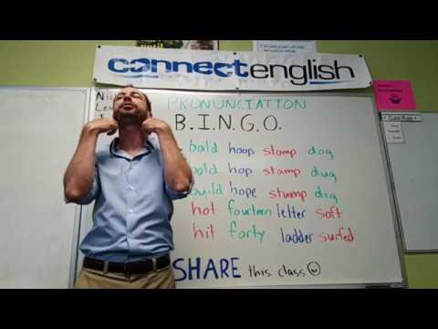 Connect English Pronunciation BINGO, Volume 2 - Mission Valley Campus