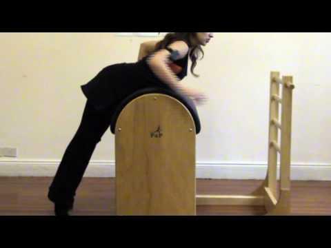Pilates: Trabajos de espinales y glúteos en Ladder Barrel o Barril