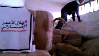 preview picture of video 'قام المجلس المحلي في مدينة طفس بإستلام مساعدات من الهلال الأحمر الأماراتي'