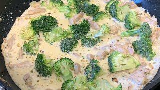 EASY AND QUICK CREAMY CHICKEN BROCCOLI RECIPE ~ MOM'S CUISINE