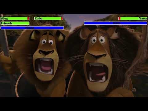 Madagascar: Escape 2 Africa (2008) Final Battle with healthbars