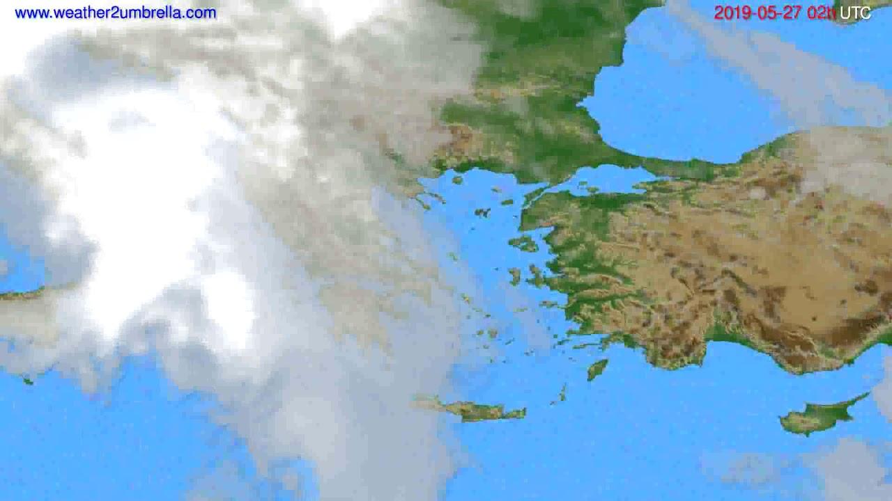 Cloud forecast Greece // modelrun: 00h UTC 2019-05-24