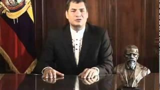 Rafael Correa Mensaje Oficial  Con Motivo De La Muerte De Néstor Kirchner