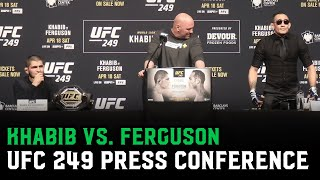 Khabib Nurmagomedov and Tony Ferguson argue about street fighting | UFC 249 Press Conference (Full)